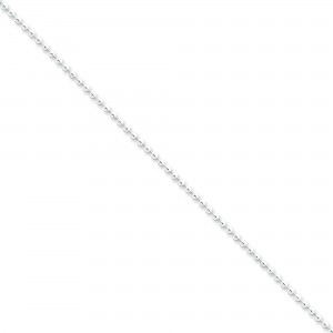Sterling Silver 16 inch 2.00 mm  Bead Choker Necklace
