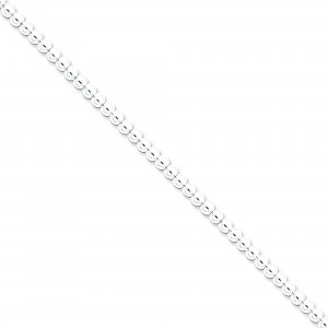 Sterling Silver 16 inch 4.00 mm  Bead Choker Necklace