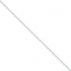 Sterling Silver 16 inch 2.35 mm  Bead Choker Necklace