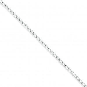 Sterling Silver 8 inch 2.80 mm Open Link Chain Bracelet