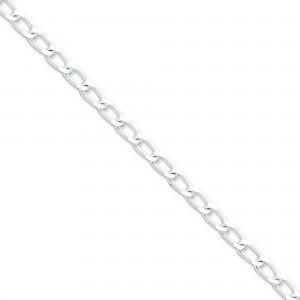 Sterling Silver 7 inch 5.10 mm Open Link Chain Bracelet
