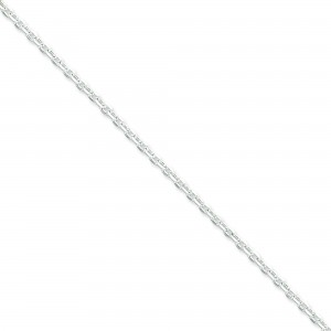 Sterling Silver 8 inch 2.75 mm Cable Chain Bracelet