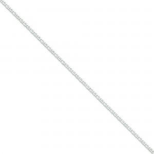 Sterling Silver 8 inch 2.00 mm Open Link Chain Bracelet