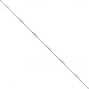 Sterling Silver 16 inch 1.00 mm  Box Choker Necklace