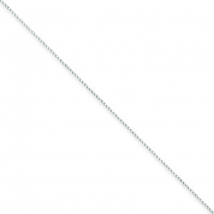 Sterling Silver 10 inch 0.30 mm Open Curb Ankle Bracelet