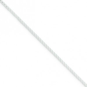 Sterling Silver 16 inch 1.50 mm Round Spiga Choker Necklace