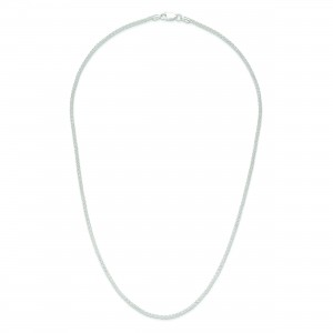 Sterling Silver 16 inch 1.75 mm Round Spiga Choker Necklace