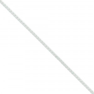 Sterling Silver 16 inch 2.50 mm Round Spiga Choker Necklace