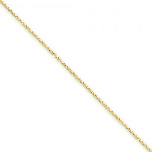 14k Yellow Gold 16 inch 0.95 mm  Box Choker Necklace
