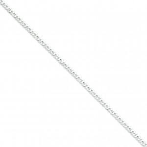14k Yellow Gold 7 inch 4.50 mm Flat Curb Chain Bracelet