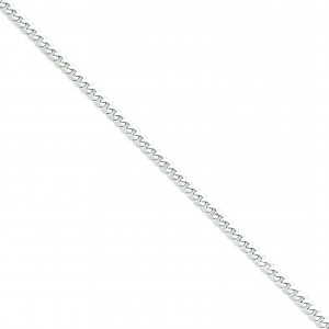 14k Yellow Gold 7 inch 5.20 mm Flat Curb Chain Bracelet