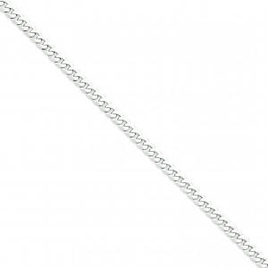 14k Yellow Gold 7 inch 6.10 mm Flat Curb Chain Bracelet