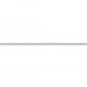 14k White Gold 7 inch 1.80 mm Flat Wheat Chain Bracelet
