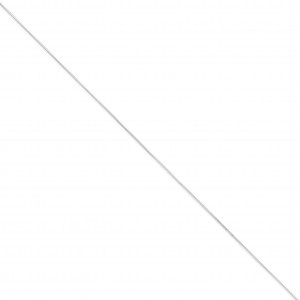 14k White Gold 16 inch 0.50 mm  Box Choker Necklace