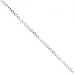 14k White Gold 14 inch 1.10 mm  Box Choker Necklace