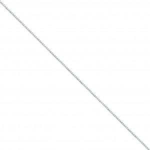 14k White Gold 16 inch 1.35 mm  Box Choker Necklace