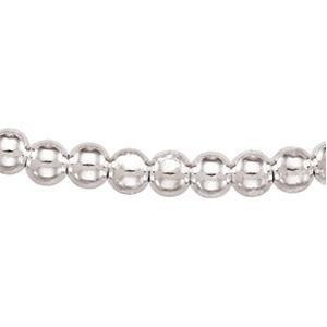Sterling Silver 7 inch 8.00 mm  Bead Chain Bracelet