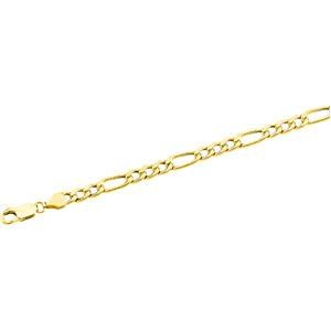 14k Yellow Gold 7 inch 4.75 mm  Figaro Chain Bracelet