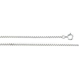 Sterling Silver 7 inch 1.25 mm  Box Chain Bracelet