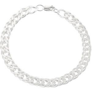 Sterling Silver 8 inch   Curb Chain Bracelet