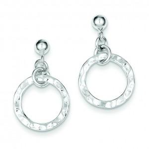 Dangling Circle Earrings in Sterling Silver