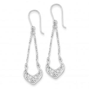Filigree Dangle Earrings in Sterling Silver