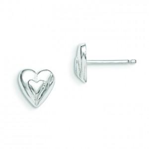 Heart Earring in Sterling Silver