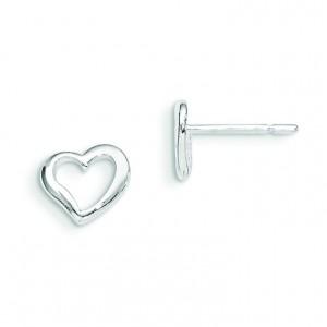 Heart Post Earrings in Sterling Silver