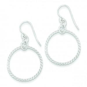 Circle Dangle Earrings in Sterling Silver