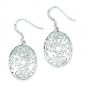 Fancy Dangle Earrings in Sterling Silver