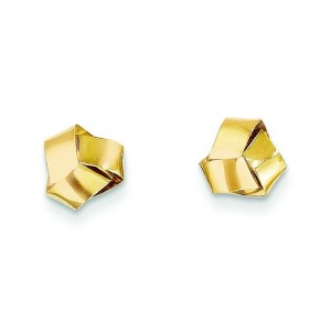 Love Knot Band Earrings in 14k Yellow Gold