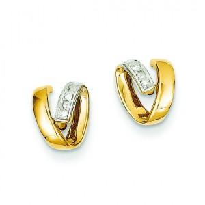 And Rhodium Diamond Earrings in 14k Yellow Gold