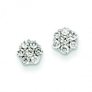 Diamond Vintage Earrings in 14k White Gold (0.25 Ct. tw.) (0.25 Ct. tw.)