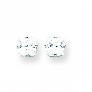 Cubic Zirconia Earrings in 14k White Gold