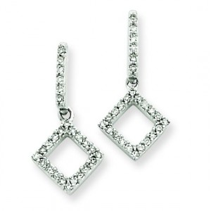 Diamond Earrings in 14k White Gold (0.19 Ct. tw.) (0.19 Ct. tw.)