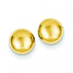 Half Ball Post Ear in 14k Yellow Gold