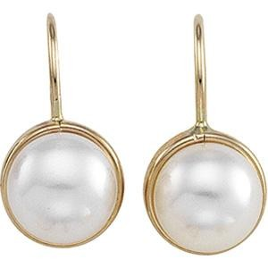 Cultured Pearl Earrings in 14k Yellow Gold