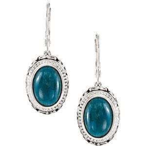 Opaque Apatite Earrings in Sterling Silver