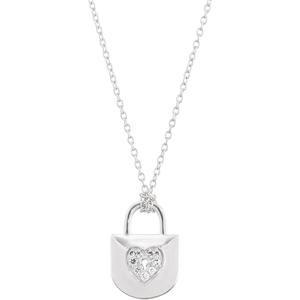 CT tw Diamond Heart Lock  Necklace