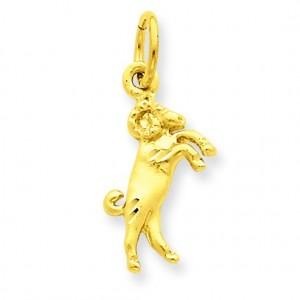 Aries Zodiac Charm in 14k Yellow Gold