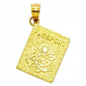 Passport Charm in 14k Yellow Gold