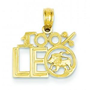 Leo Pendant in 14k Yellow Gold