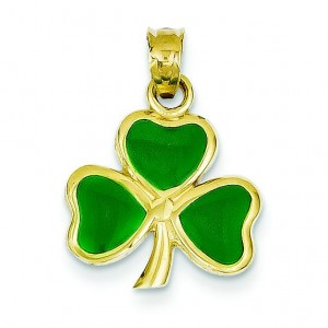 Leaf Clover Pendant in 14k Yellow Gold