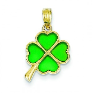 Clover Translucent Pendant in 14k Yellow Gold