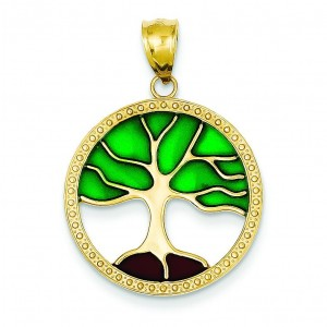 Tree Of Life Pendant in 14k Yellow Gold