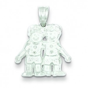 Boys Charm in Sterling Silver