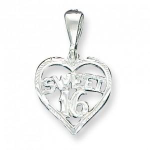 Heart Sweet Charm in Sterling Silver