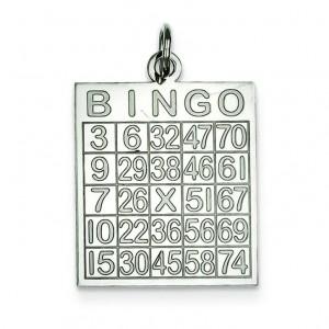 Bingo Card Pendant in Sterling Silver