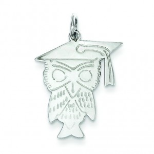 Owl Charm in Sterling Silver