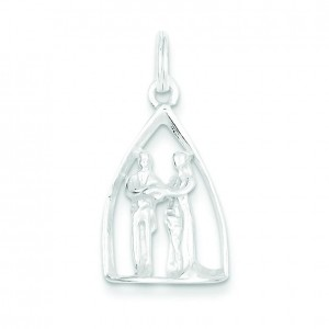 Wedding Couple Charm in Sterling Silver